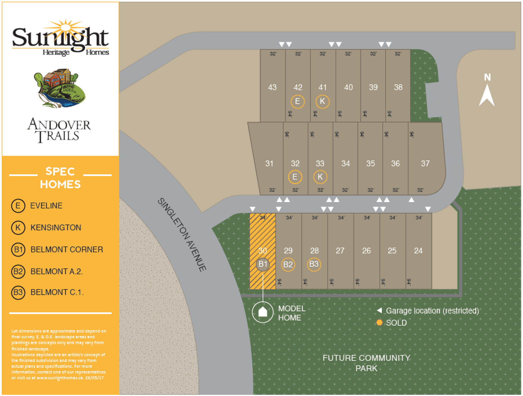 SUNLIGHT ANDOVER_LOT MAP